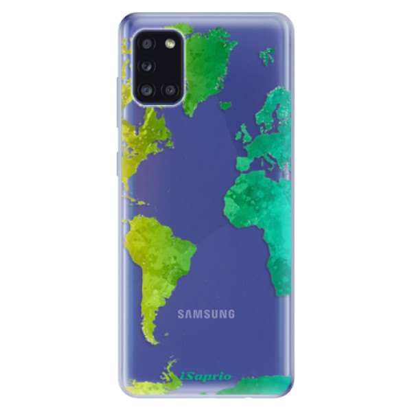 Odolné silikonové pouzdro iSaprio - Cold Map - Samsung Galaxy A31