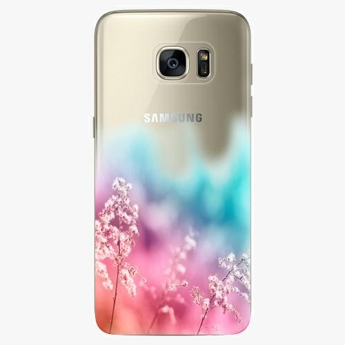 Silikonové pouzdro iSaprio - Rainbow Grass - Samsung Galaxy S7 Edge