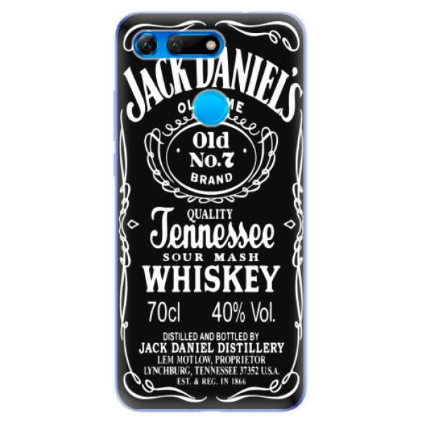 Odolné silikonové pouzdro iSaprio - Jack Daniels - Huawei Honor View 20