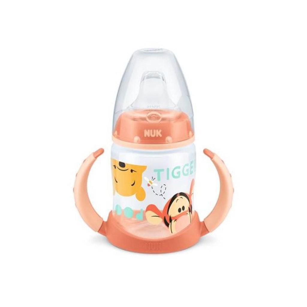 Kojenecká láhev na učení NUK 150 ml Disney Medvídek Pu - oranžová