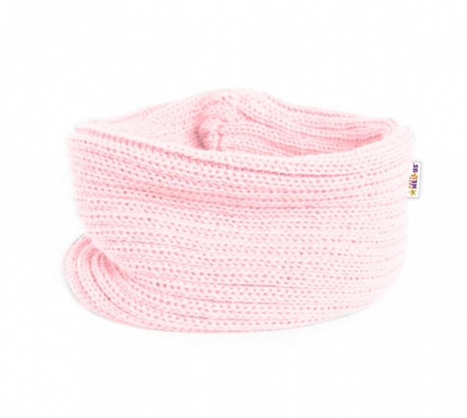 Pletený nákrčník/komínek Baby Nellys ® - sv. růžový - 3-8let