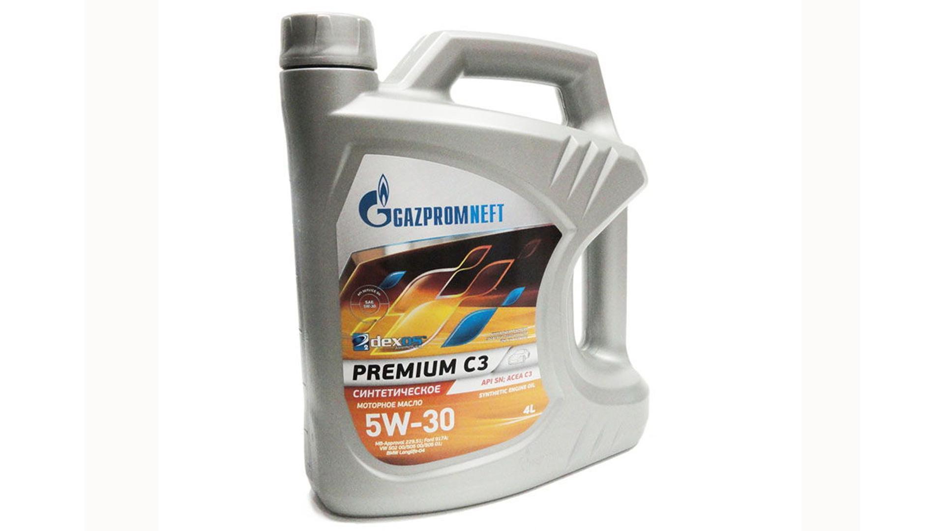 GAZPROM Premium C3 5W-40 API SN 4L