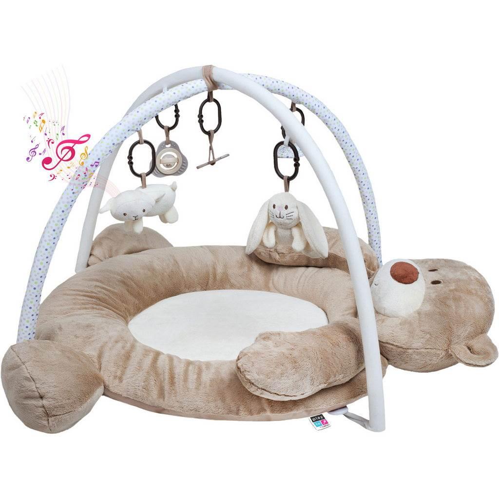 Luxusní hrací deka s melodií PlayTo medvídek - hnědá