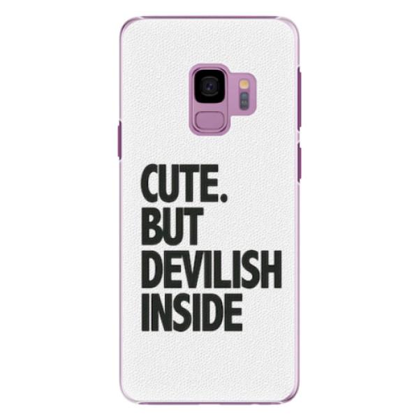 Plastové pouzdro iSaprio - Devilish inside - Samsung Galaxy S9