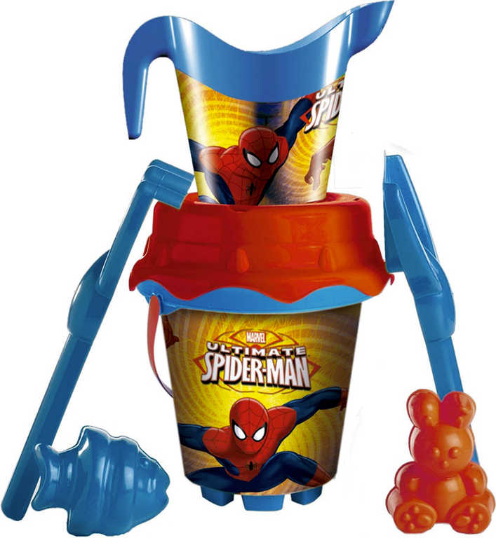 UNICE Set na písek Spiderman kyblík s konvičkou a nástroji 7ks plast