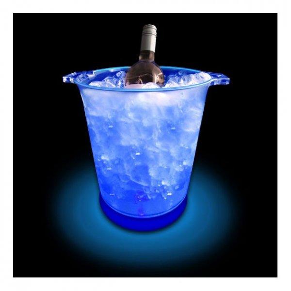 Svítící kbelík na led