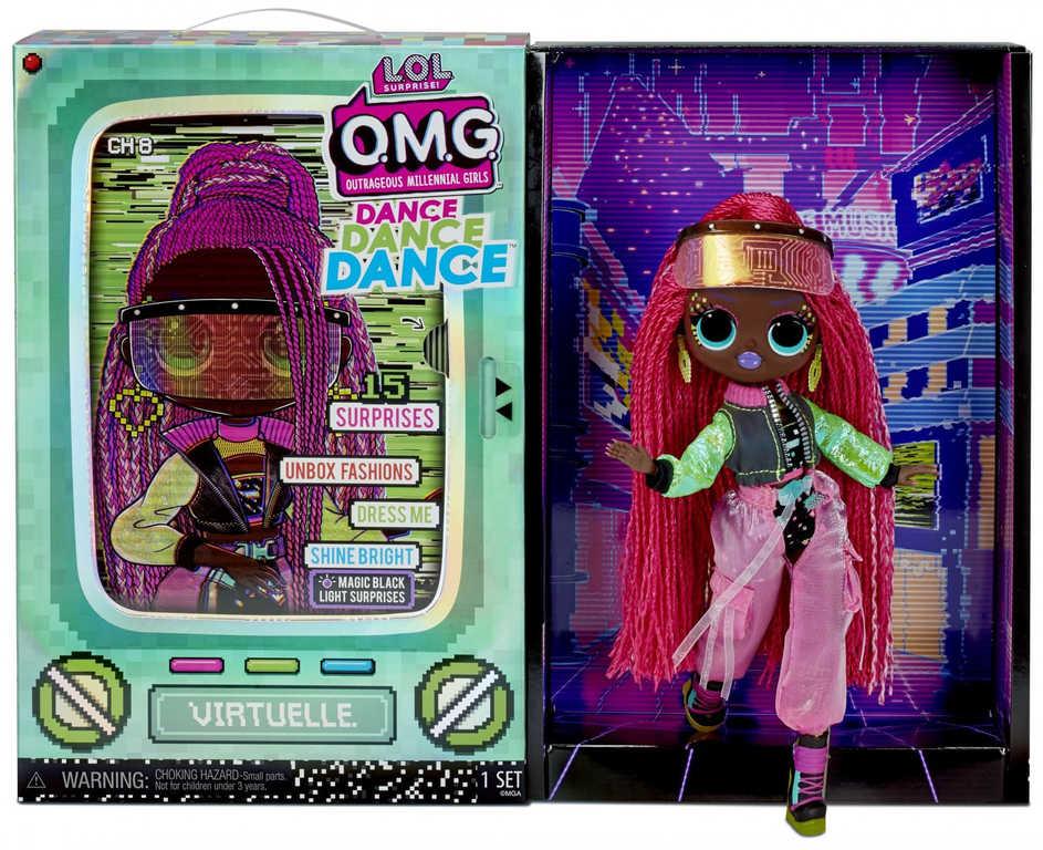 L.O.L. Surprise! OMG Velká ségra Dance VIRTUELLE panenka 15 překvapení