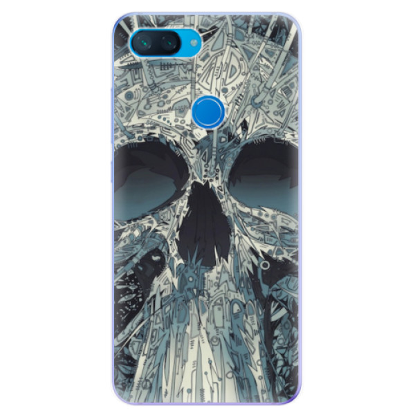 Odolné silikonové pouzdro iSaprio - Abstract Skull - Xiaomi Mi 8 Lite