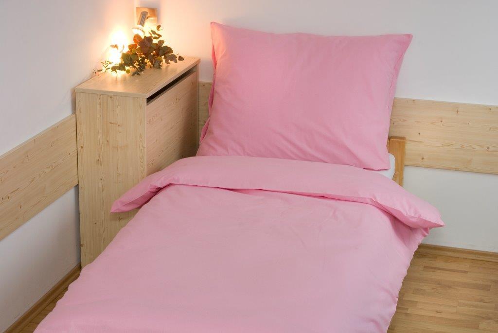 Povlečení bavlna UNI 140x200, 70x90cm Růžová, Výběr zapínání: