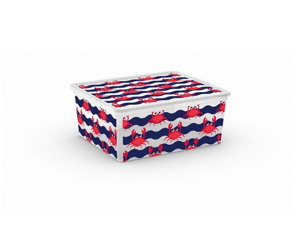 Plastový úložný KIS C box ANIMAL - M - krab