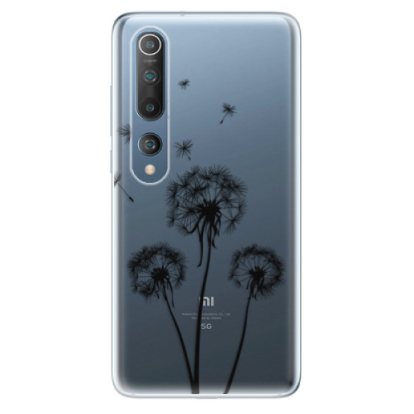 Odolné silikonové pouzdro iSaprio - Three Dandelions - black - Xiaomi Mi 10 / Mi 10 Pro