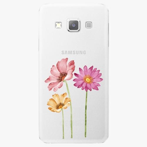 Plastový kryt iSaprio - Three Flowers - Samsung Galaxy A3