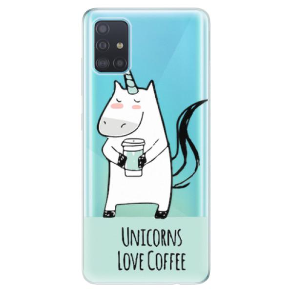 Odolné silikonové pouzdro iSaprio - Unicorns Love Coffee - Samsung Galaxy A51