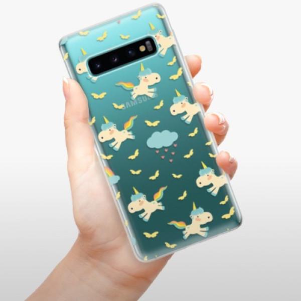 Odolné silikonové pouzdro iSaprio - Unicorn pattern 01 - Samsung Galaxy S10