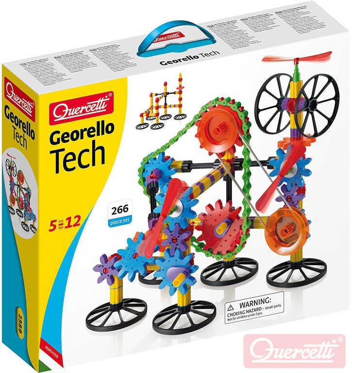 QUERCETTI Georello Gear Tech stavebnice převodová 266 dílků v krabici plast