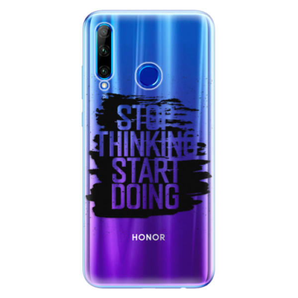 Odolné silikonové pouzdro iSaprio - Start Doing - black - Huawei Honor 20 Lite