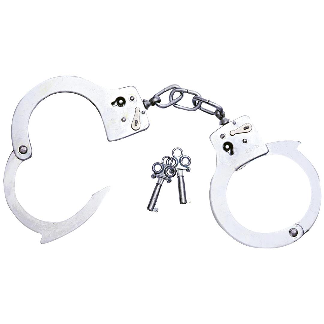 Uzamykatelná kovová pouta s klíčky Metall-Handschellen