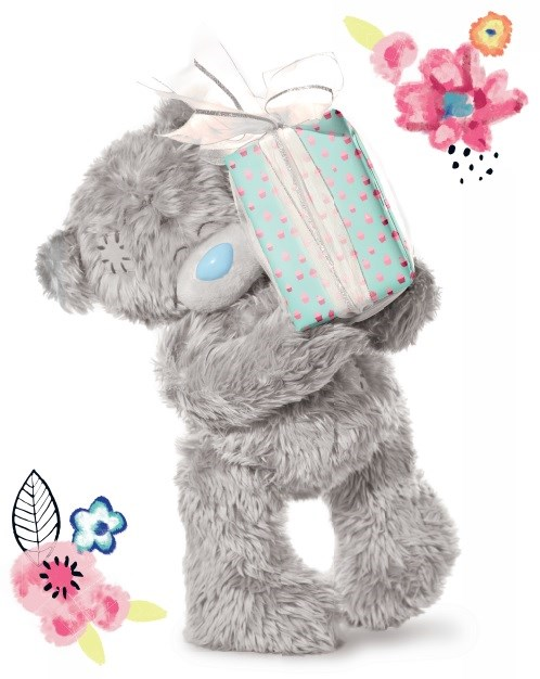 L - Medvídek držící dárek