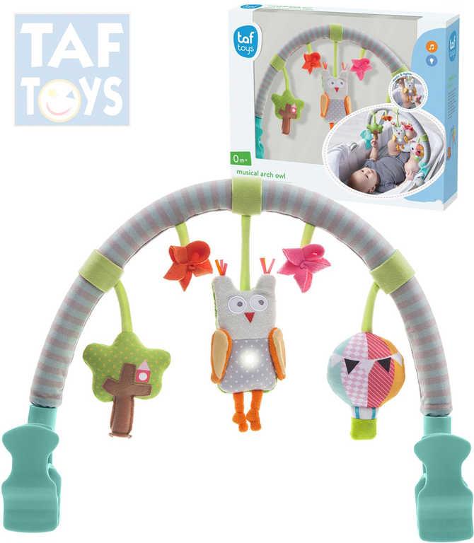 TAF TOYS Baby hrazdička hudební sova Světlo Zvuk pro miminko