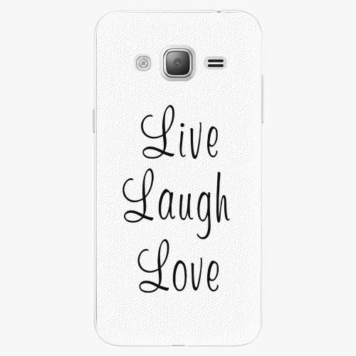 Plastový kryt iSaprio - Live Laugh Love - Samsung Galaxy J3 2016