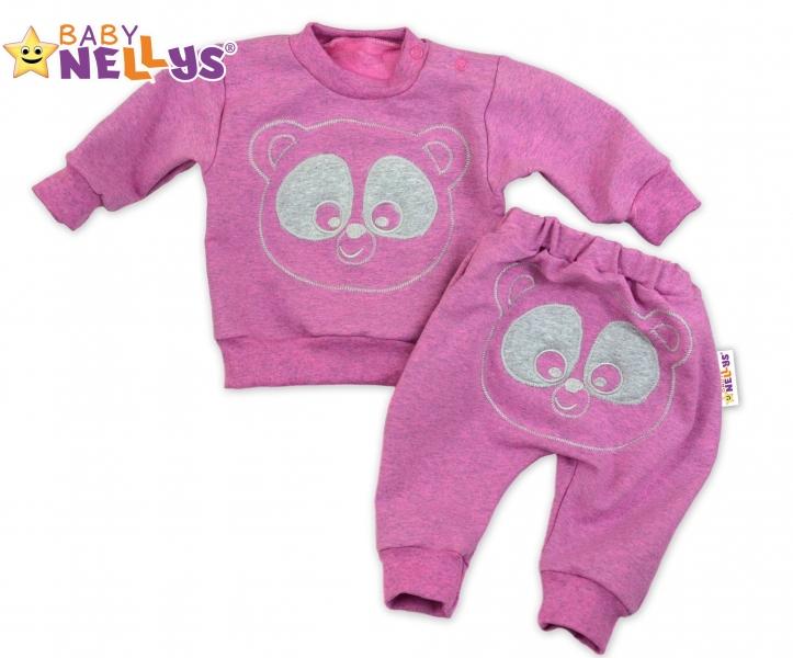 Tepláková souprava Baby Nellys - Medvídek - růžový