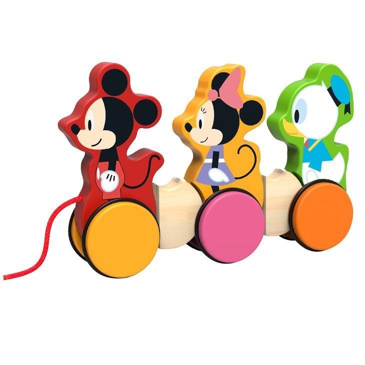 Dětská dřevěná tahací hračka Disney - 24 x 14 x 17 cm