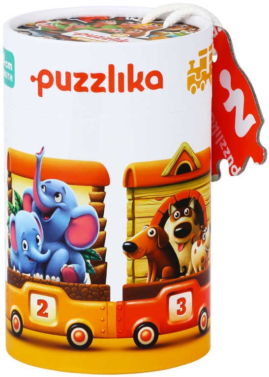 PUZZLIKA Baby puzzle skládačka Vlak zvířátka velké dílky set 20ks