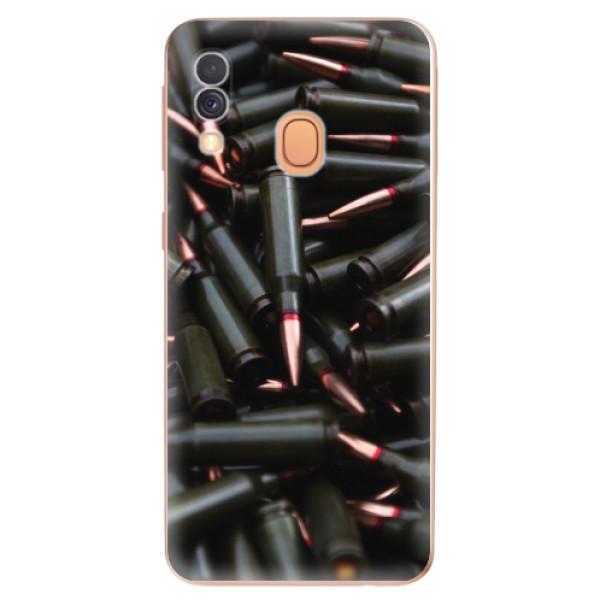 Odolné silikonové pouzdro iSaprio - Black Bullet - Samsung Galaxy A40