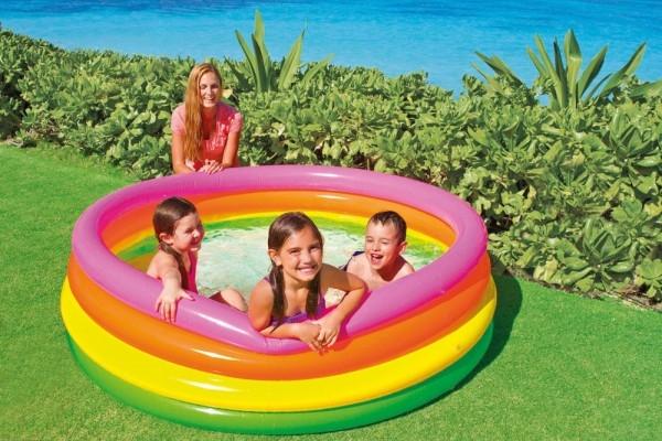 Bazén nafukovací 4 komory 168x46cm v krabici