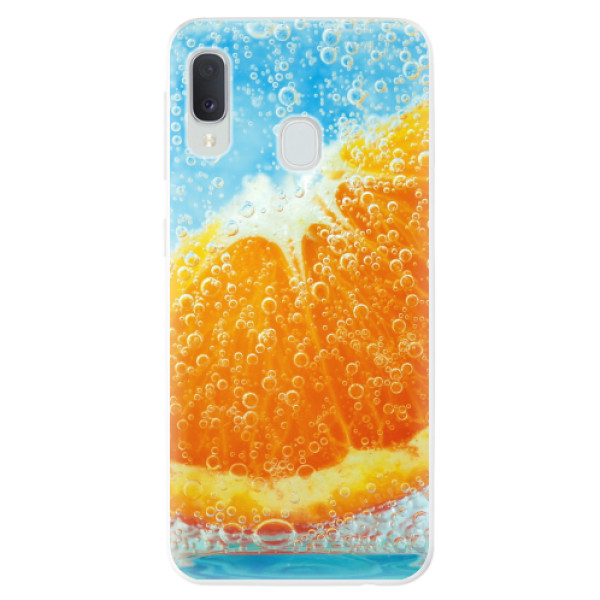 Odolné silikonové pouzdro iSaprio - Orange Water - Samsung Galaxy A20e