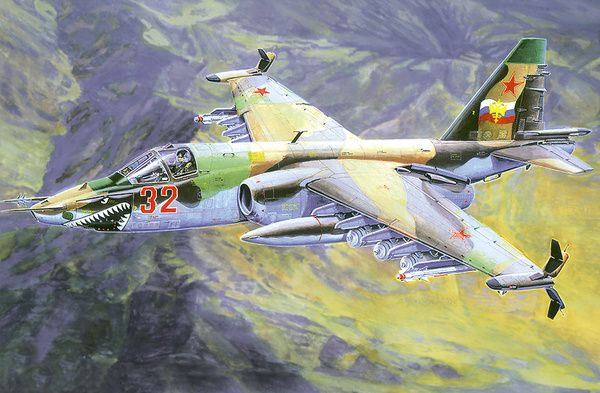 Model Suchoj Su-25K 21x20cm v krabici 25x14x4,5cm