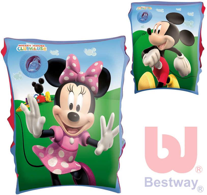 BESTWAY Nafukovací dětské rukávky 1 pár Minnie/Mickey Mouse 2 druhy do vody