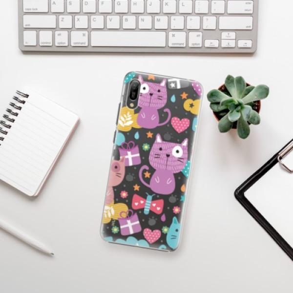 Plastové pouzdro iSaprio - Cat pattern 01 - Huawei Y6 2019
