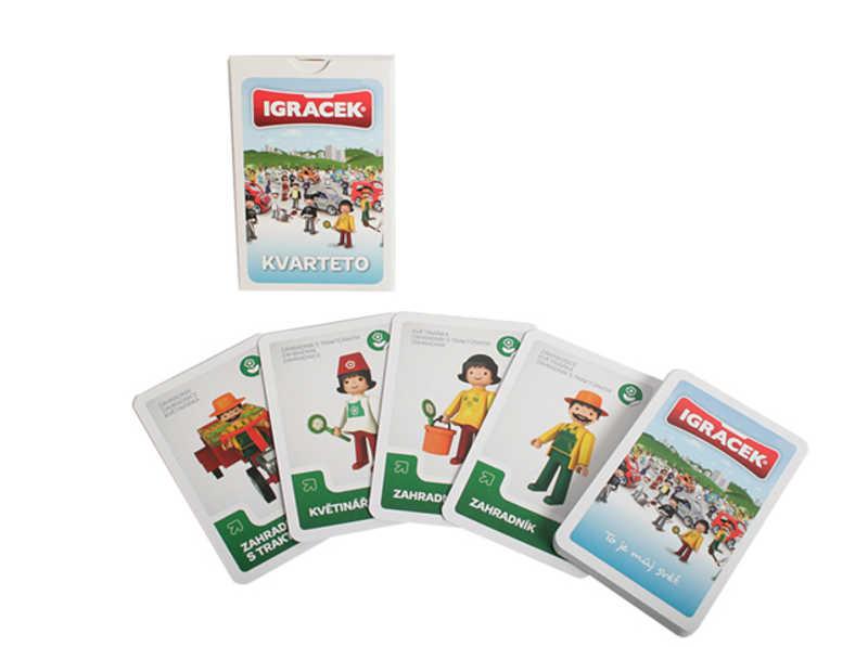 EFKO IGRÁČEK Kvarteto dětská karetní hra