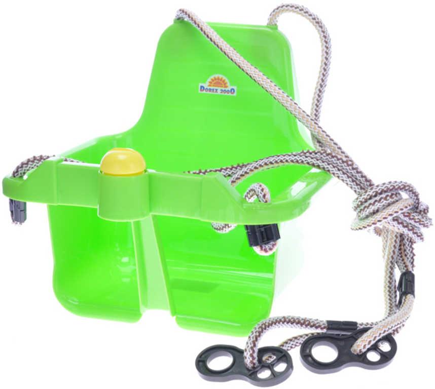 MAD Baby houpačka zelená závěsná skořepina s klaksonem pro miminko