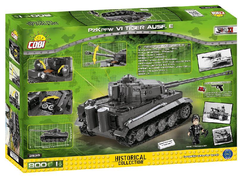 Stavebnice II WW Panzer VI Tiger Ausf. E, 800 k, 1 f