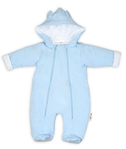 baby-nellys-kombinezka-s-dvojitym-zapinanim-s-kapuci-a-ousky-sv-modra-vel-74-74-6-9m