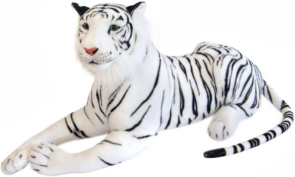 PLYŠ Tygr bílý ležící 92cm *PLYŠOVÉ HRAČKY*