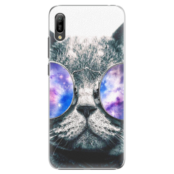 Plastové pouzdro iSaprio - Galaxy Cat - Huawei Y6 2019
