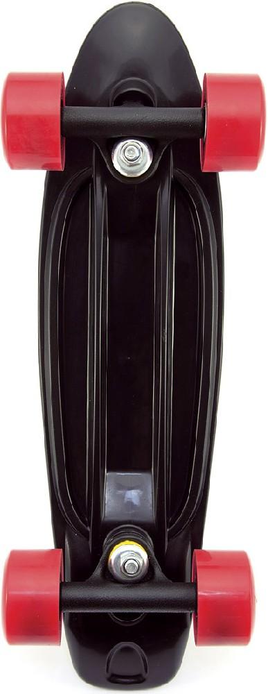 Skateboard dětský pennyboard černý 43cm plastové osy červená kola
