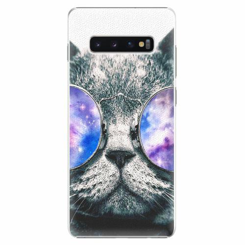 Plastový kryt iSaprio - Galaxy Cat - Samsung Galaxy S10+