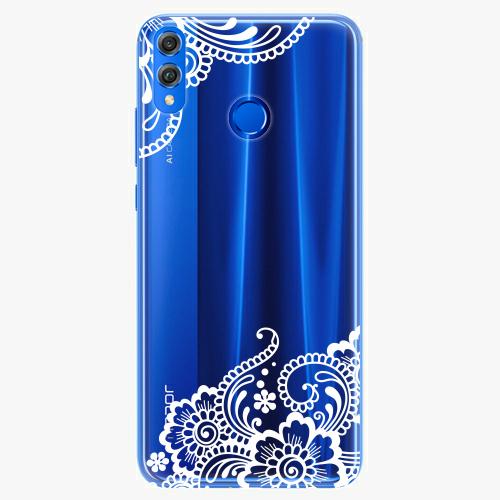 Silikonové pouzdro iSaprio - White Lace 02 - Huawei Honor 8X