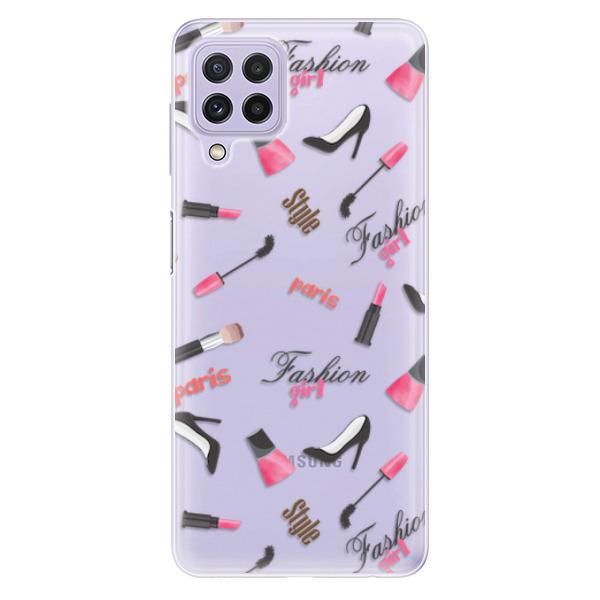 Odolné silikonové pouzdro iSaprio - Fashion pattern 01 - Samsung Galaxy A22