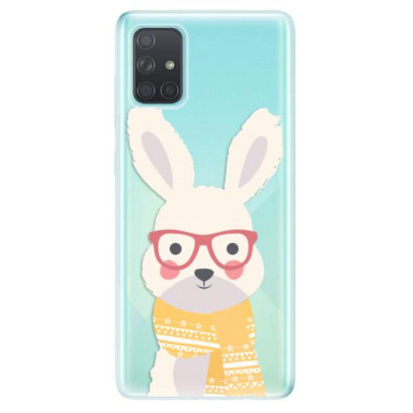 Odolné silikonové pouzdro iSaprio - Smart Rabbit - Samsung Galaxy A71