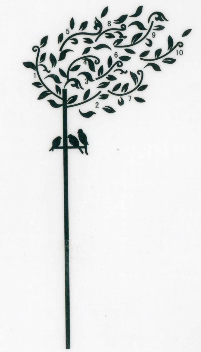 Samolepka na zeď Strom a ptáčci