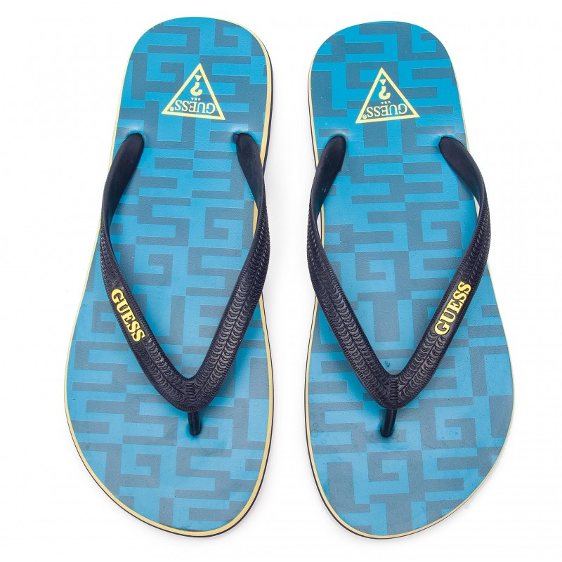 Plážové žabky F92Z08-B00H modrá - GUESS