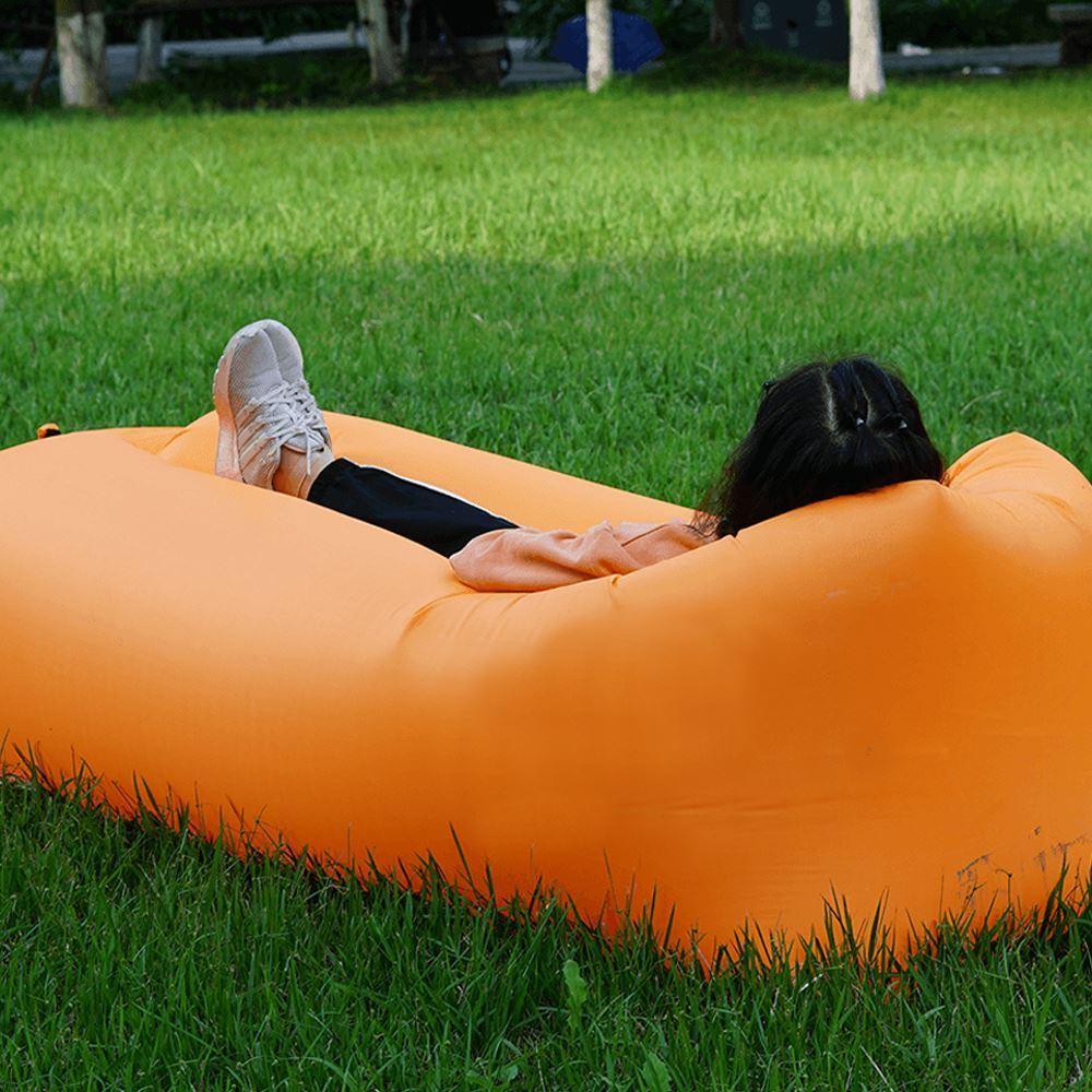 Nafukovací vak Lazy bag dvouvrstvý - oranžový