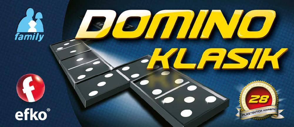 EFKO Hra Domino klasik 28 kamenů plast *SPOLEČENSKÉ HRY*