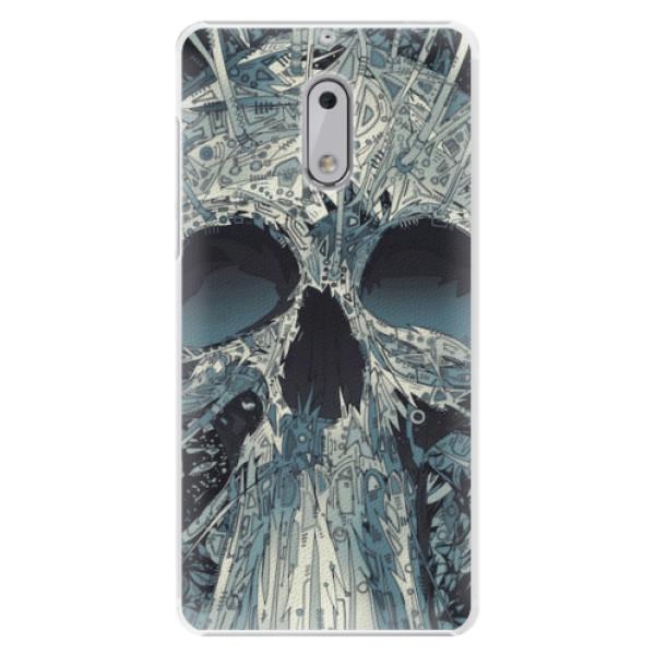 Plastové pouzdro iSaprio - Abstract Skull - Nokia 6