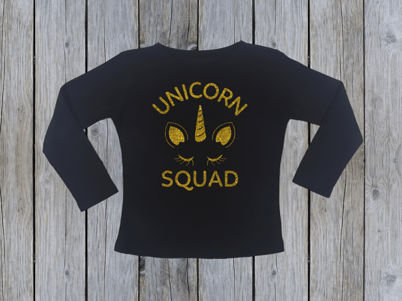 kidsbee-divci-bavlnene-tricko-unicorn-squad-cerne-vel-104-104